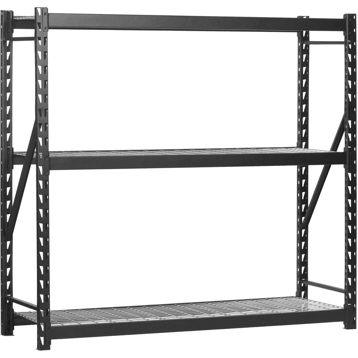 Edsal 72'H x 77'L x 24'W Steel Welded Storage Rack, Black