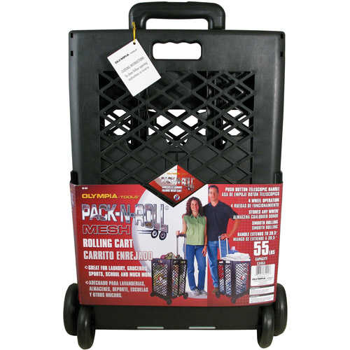 Olympia Tools Pack-N-Roll Mesh Rolling Cart, 85-404