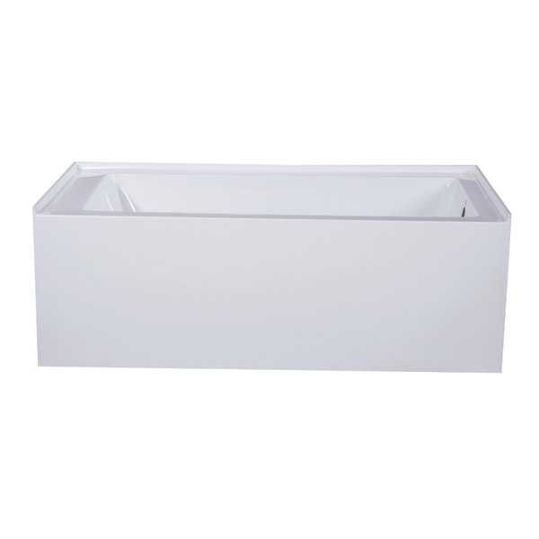 Fine Fixtures Acrylic and Fiberglass 66-inch x 32-inch x 21-inch Right-handed Apron Soaking Bathtub