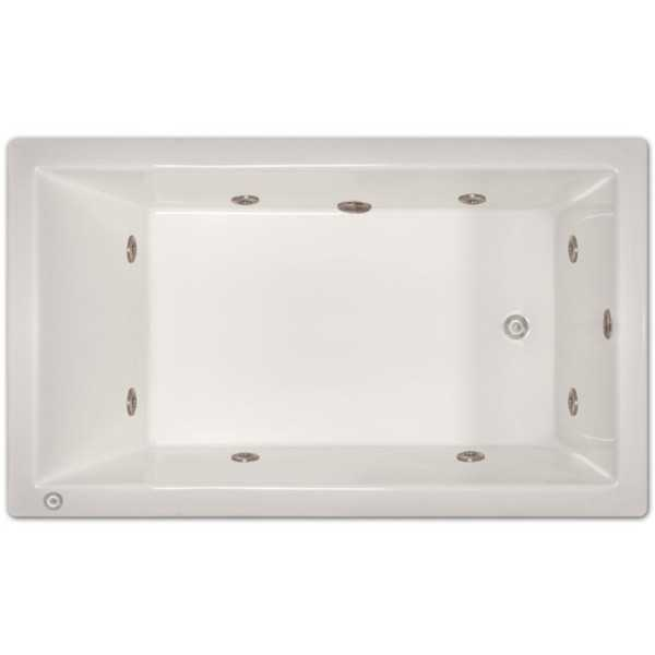 Signature Bath Acrylic 72-inch x 42-inch x 18-inch Drop-in Whirlpool Tub with Stainless Jets