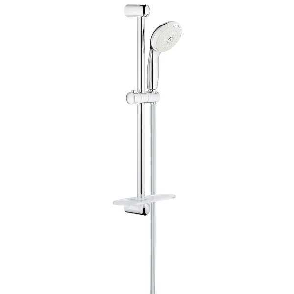 Grohe 28 436 2 Tempesta 2.5 GPM Multi Function Hand Shower and 24' Slide Bar - Starlight Chrome - N/A
