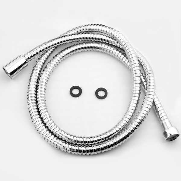 AKDY SH0070 5Ft Extra Long 60' Stainless Steel Standard Bath Handheld Shower Head Pipe Hose