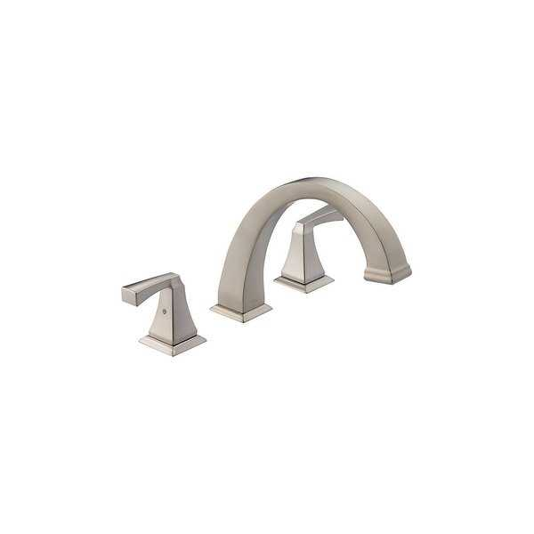 Delta T2751 Dryden Deck Mounted Roman Tub Faucet Trim with Lever Handles - N/A