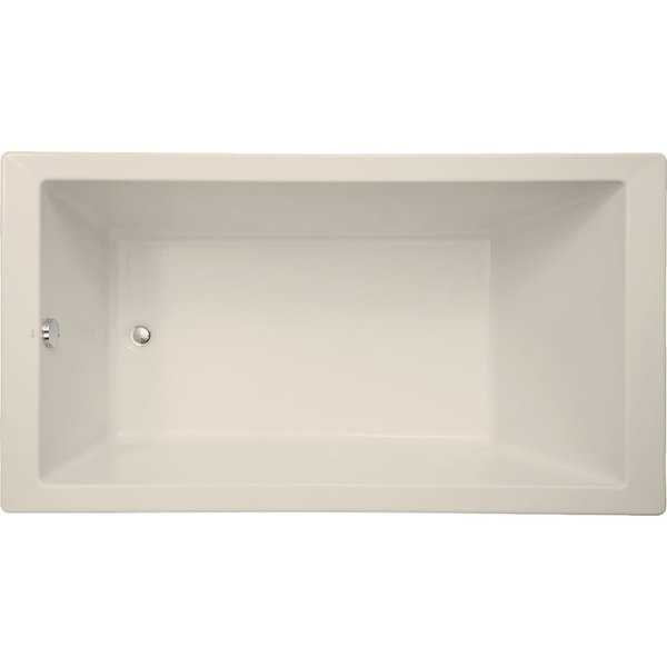 Mirabelle MIRSKS6636 Sitka 66' X 36' Acrylic Soaking Bathtub for Drop In or Undermount Installations with Reversible Drain