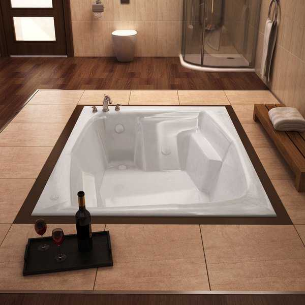 Mountain Home Bards 54x72-inch Acrylic Soaking Drop-in Bathtub - 54 x 72