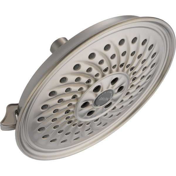 Delta 52687 1.75 GPM Universal 8-1/4' Wide Multi Function Shower Head with H2Okinetic Technology - Limited Lifetime Warranty