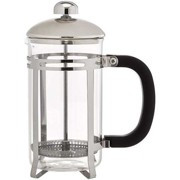French Press Shatter Proof Coffee & Tea Maker w/ Stainless Steel Frame - 20 oz