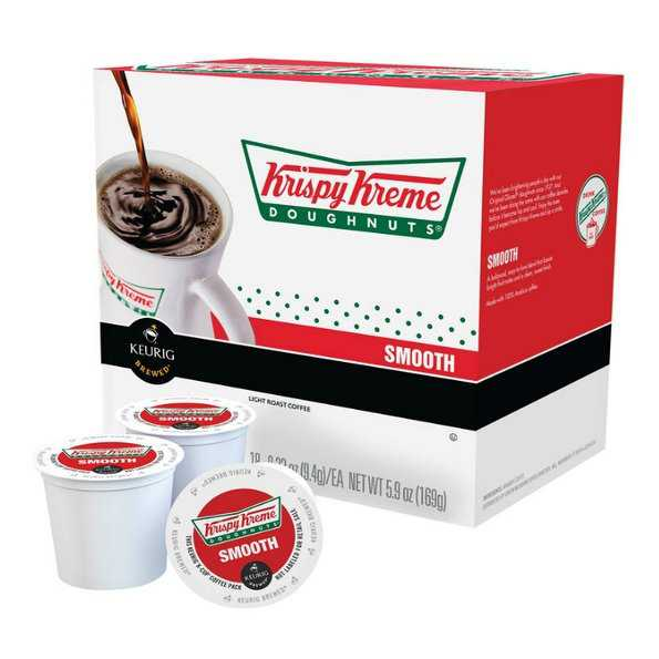 Keurig 114576 K-Cup Krispy Kreme Doughnut Smooth Coffee, Pack of 18